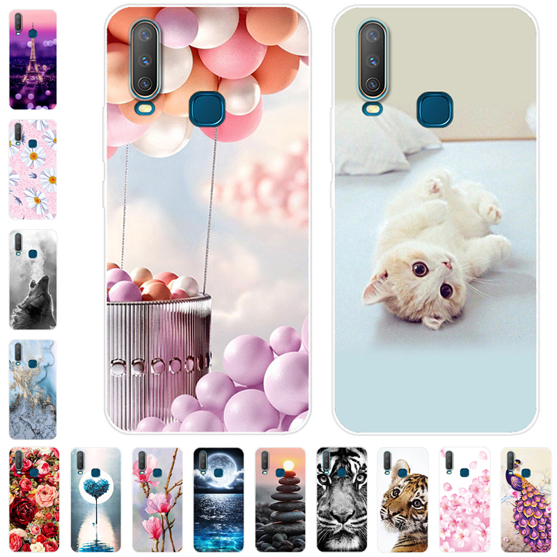 Silicone Phone Cover For <font><b>Vivo</b></font> Y17 Y15 Y95 Y91 Y91C <font><b>Y83</b></font> Y81 V11 V11i V15 V15 Pro V9 <font><b>Case</b></font> Soft TPU For <font><b>Vivo</b></font> Y91C Y 17 V15Pro 15 image