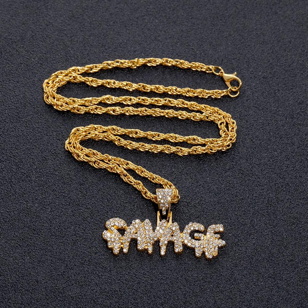 Hip Hop dolar işareti kolye lüks parlak pirinç buzlu zincirleri mikro açacağı kübik zirkon vahşi kolye kolye erkek hediyeler