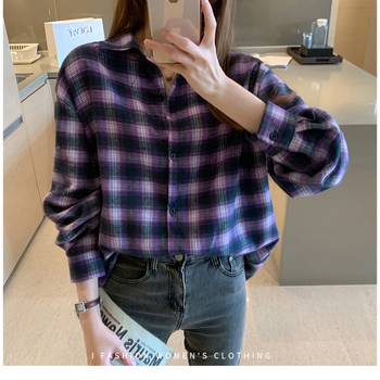 Woman Blouse 2020 Fall Winter Long Sleeve Top Plus Size Casual Elegant Classic Plaid Shirt Female Streetwear Autumn Blusas cotton long shirt fashion plaid turn down collar full sleeve office lady autumn women blouse plus size casual blusas student top