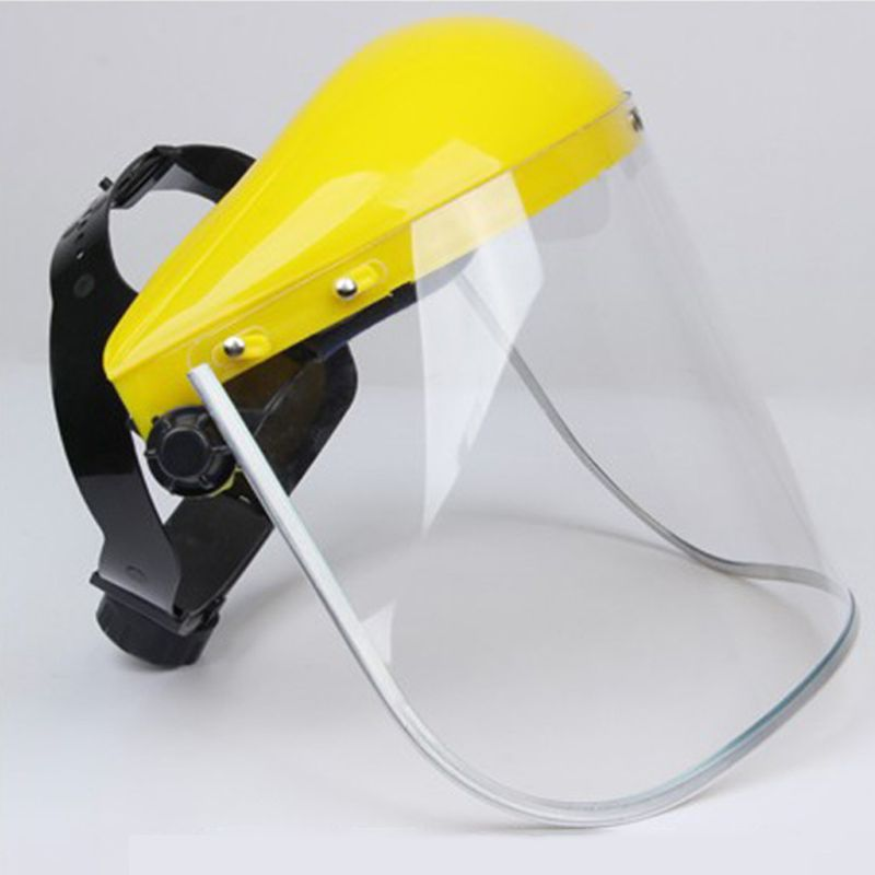 Multipurpose Transparent Removable Safety Protective Face Shield Clear Head-mounted Face Eye Shield Screen Grinding