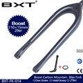 BXT 29er углеродная вилка для горного велосипеда 110*15 мм MTB вилка 1-1/8 до 1-1/2 коническая полностью углеродная вилка глянцевая/матовая углеродная в...