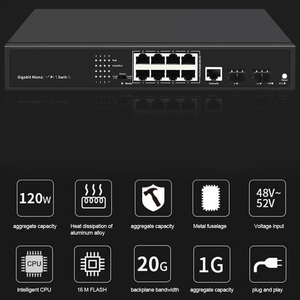 Image 3 - 10 พอร์ตPOE Gigabitเครือข่าย 2 Uplinkพอร์ตGigabit SFP + 8 Gigabit POEพอร์ตสวิทช์ 250M over EthernetสำหรับCAM