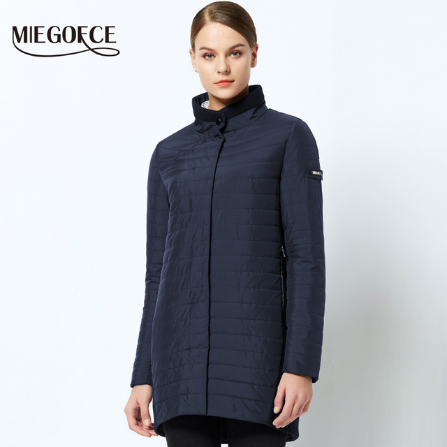 MIEGOFCE 2019 The New Spring Collection Warm women's Jacket With A Standing Collar Simple Woman's Quilted Coat mom stylish model 1