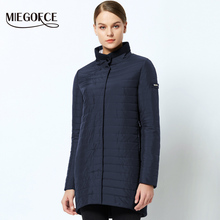 MIEGOFCE 2019 The New Spring Collection Warm womens Jacket With A Standing Collar Simple Womans Quilted Coat mom stylish model