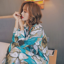 秋の新女性長袖パジャマセット快適なプラスサイズパジャマビスコース印刷 V ネックパジャマプラスサイズホーム服