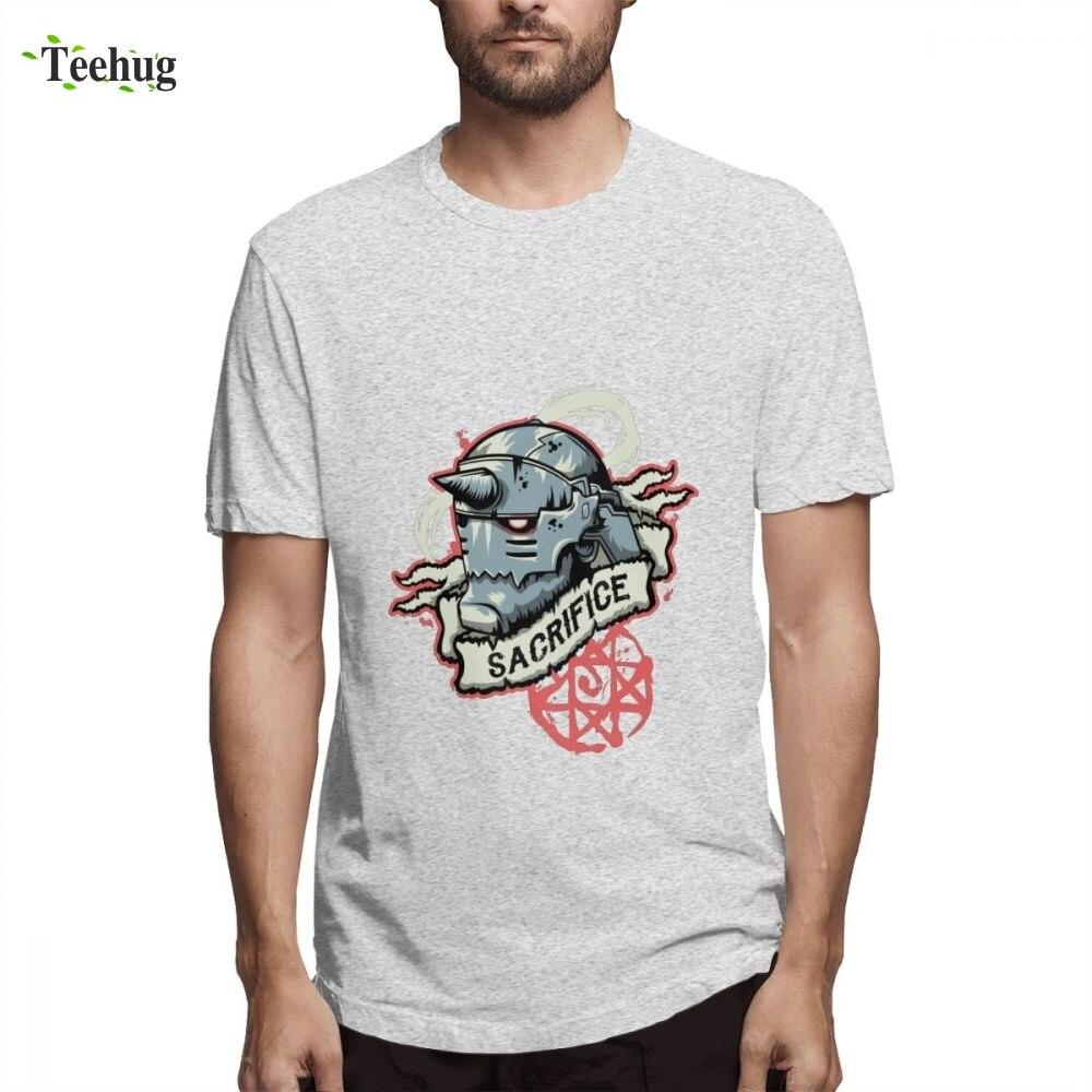 Japan Anime Fullmetal Alchemist Short Sleeve Hot Sale Male Crazy Top Design Pure Cotton T Shirt For Boy