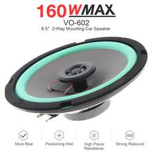 1pcs 6.5 Inch 160W Car HiFi Coaxial Speaker Vehicle Door Auto Audio Music Stereo Full Range Frequency Speakers for Car(China)