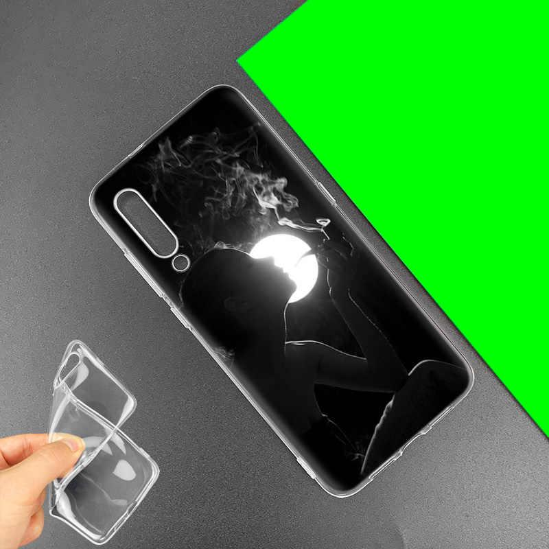 Курение Девушка эстетическое чехол для huawei Honor 8X 9X Pro Play 3 3e Y9 20 S 8C 9 10 8A Lite Y7 Y6 2019 мягкий чехол для мобильного телефона c Coque