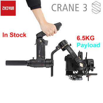 Zhiyun Crane 3S / 3S-Pro / 3S-E 3-Axis Handheld Gimbal Stabilizer Payload 6.5KG for RED ARRI BMPCC Cinema Camera DSLR Camera handheld gimbal adapter switch mount plate for gopro 6 5 4 3 3 yi 4k camera for dji osmo for feiyu zhiyun smooth q gimbal