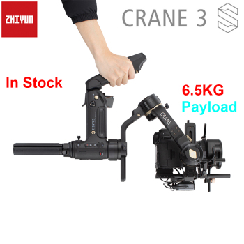 Zhiyun Crane 3S / 3S-Pro / 3S-E 3-Axis Handheld Gimbal Stabilizer Payload 6.5KG for RED ARRI BMPCC Cinema Camera DSLR Camera aluminium camera quick release plate offset for bmpcc 4k ronin s zhiyun crane 2 3 stabilizer handheld gimbal mount plate board