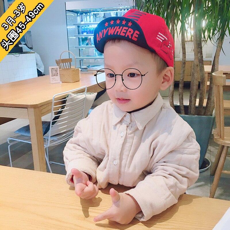 45-49cm 3M-3Y  baby hip-hop alphanumeric flanging cap sun hat gril boycap kids winter hats bonnet girl