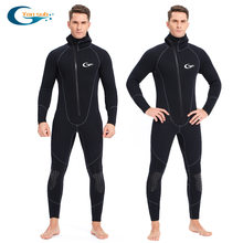 Full-body 5mm Neopreen Wetsuit Surfen Zwemmen Duikpak Triathlon Nat Pak voor Koud Water Scuba Snorkelen Spearfishing(China)