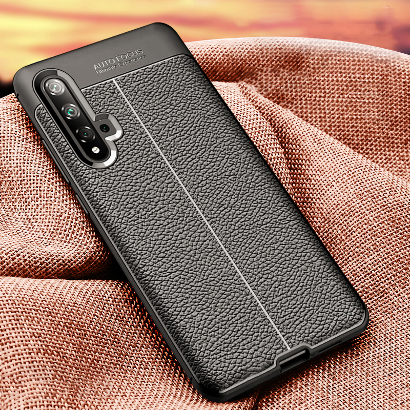 Nova 5T Case Leather Case For Huawei Nova 5 t Cover Luxury Bumper Silicon Cover Funda on For Huawei Nova 5t Honor20 Phone Cases