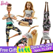 Original Barbie Gymnastics Yoga Sports Doll Barbie All Joints Move Doll Educational Toy Girl Christmas Birthday Toys Gift DHL81 original barbie doll brand collectible doll ballet wish barbie doll toy girl birthday present girl toys gift bonecbrinquedos