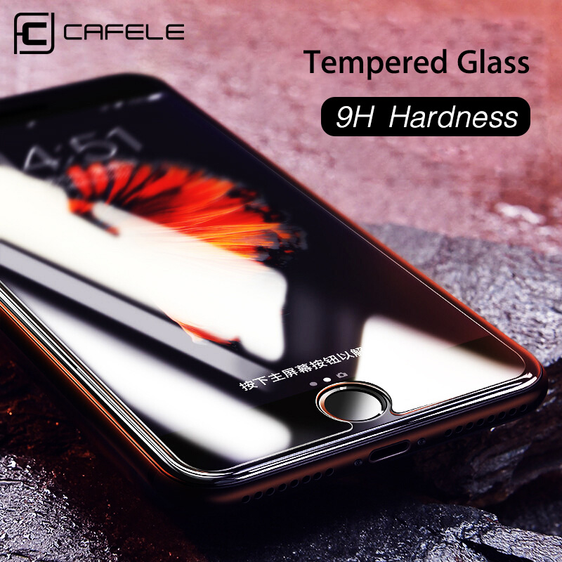 CAFELE Screen Protector for iPhone 11 Pro Max X XR Xs Max 8 7 6 6s Plus HD Clear Tempered Glass For iPhone 5 5s SE 2020 Thin image