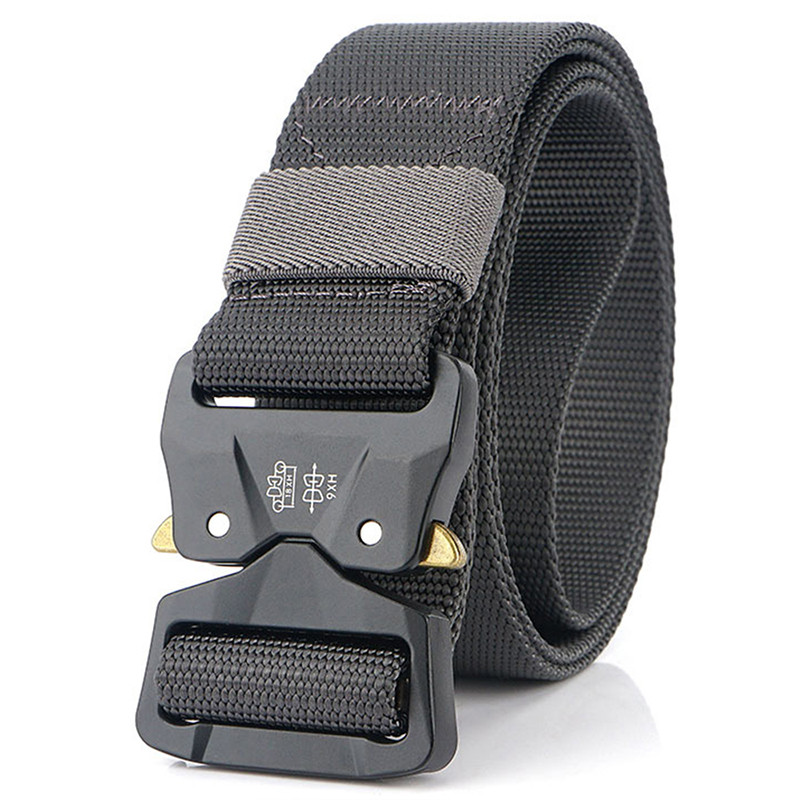 2021  Men Anti-Rust Zinc Alloy Buckle Tactical Belt  Genuine Outdoor Work Belts 1200D Strong And Soft Nylon Military Army Belt