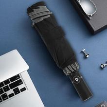 Pongee Automatic Umbrella Portable for Men Wind Resistant Folding Rain Women Gear Parasol Paraguas