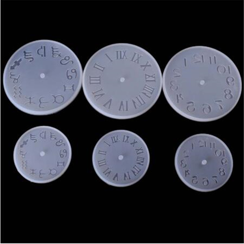10/15cm Clock Resin Silicone Mould Small Big Size Clock Epoxy Resin Molds For DIY Jewelry Making Handmade Tools