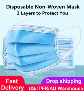 Respirators Face-Mask Nose-Cover Disposable 3-Layer Unisex Anti-Dust-Mouth Non-Woven