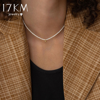 17KM Fashion Bead Pearl Choker Necklace For Women Elegant Simple Pearl Pendant Necklace Wedding Jewelry 2021 1