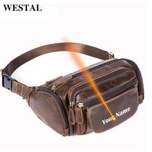 WESTALเลเซอร์แกะสลักผู้ชายเอวกระเป๋าเข็มขัดผู้ชายเอวแพ็คชายFanny Packเข็มขัดกระเป๋าเดินทางBumสะโพกของแท้ 835