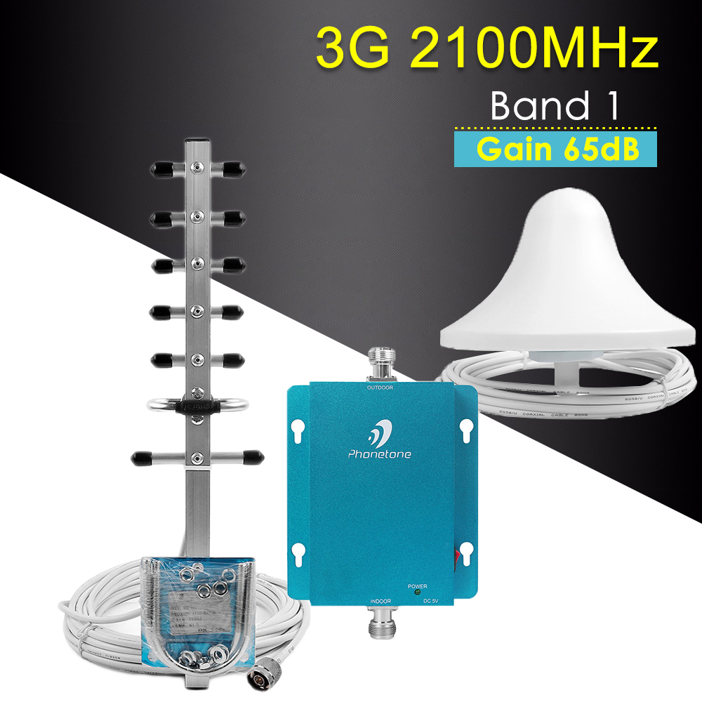 MTS Beeline 3G Mobile Signal Booster 2100MHz B1 WCDMA Repeater 3g Cellular Amplifier 3G Signal Amplifier Antenna Kit For MegaFon