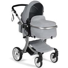 Складная Алюминиевая детская люлька двусторонняя коляска с сумкой