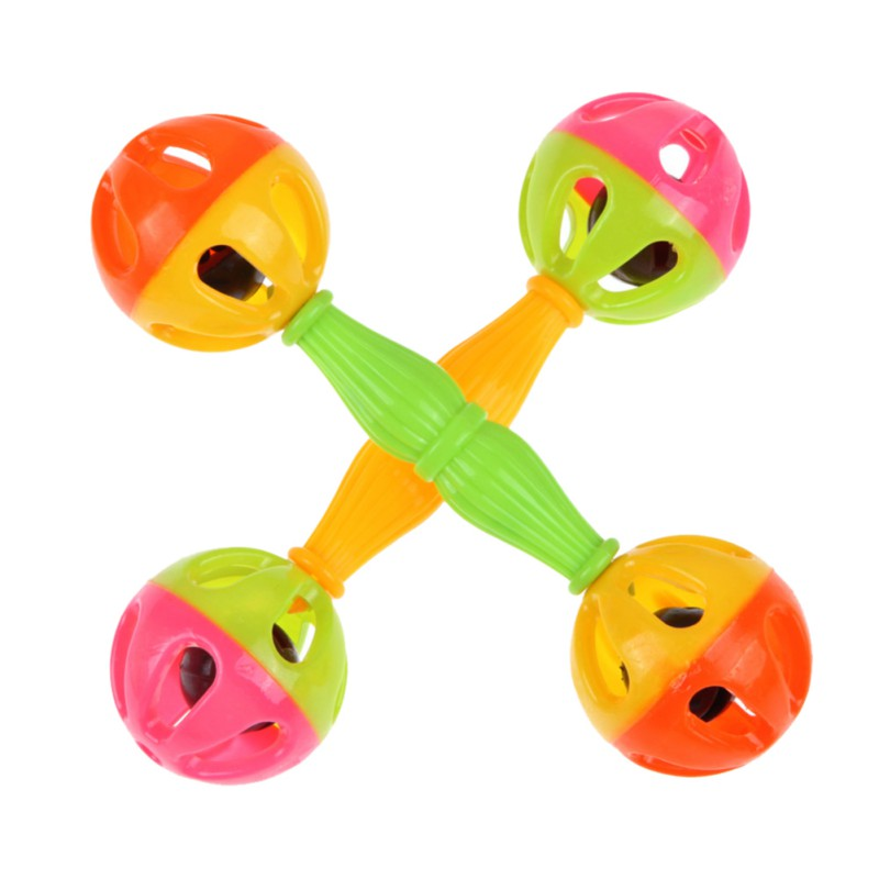 1pc Early Childhood Educational Toys Baby Kid Toy Rattle Bells Shaking Dumbells Early Development Toys Hot
