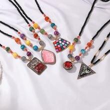 Новое зимнее этническое ожерелье для женщин изысканное цепочка