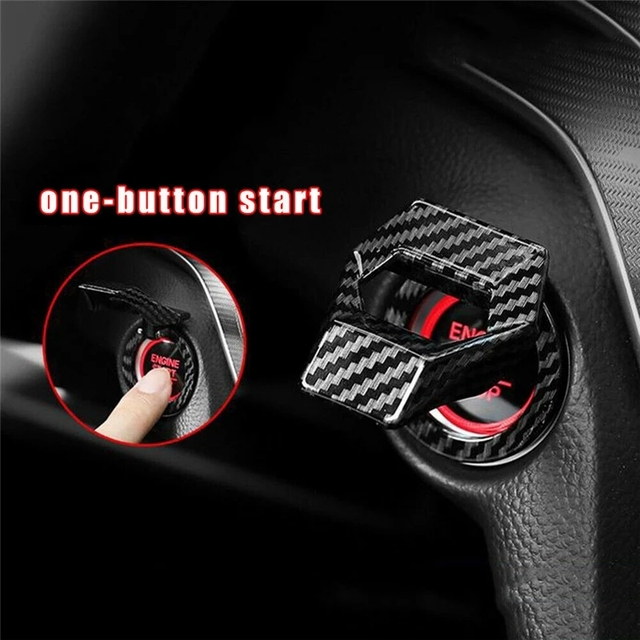 1 Pc High Quality Car Engine Start Stop Switch Button Cover Decorative Start Stop Switch Cover Engine Start Stop Switch Cover|Keyless Start System|   -