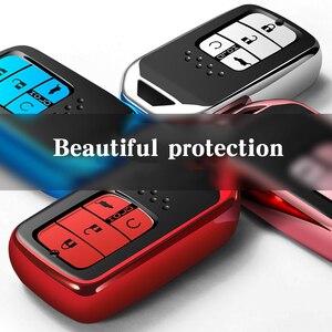 Image 4 - Clé télécommande en TPU et ABS, pour voiture Honda Civic Accord cr v, pilote etui clés, 2015, 2016, 2017, 2018, haute qualité
