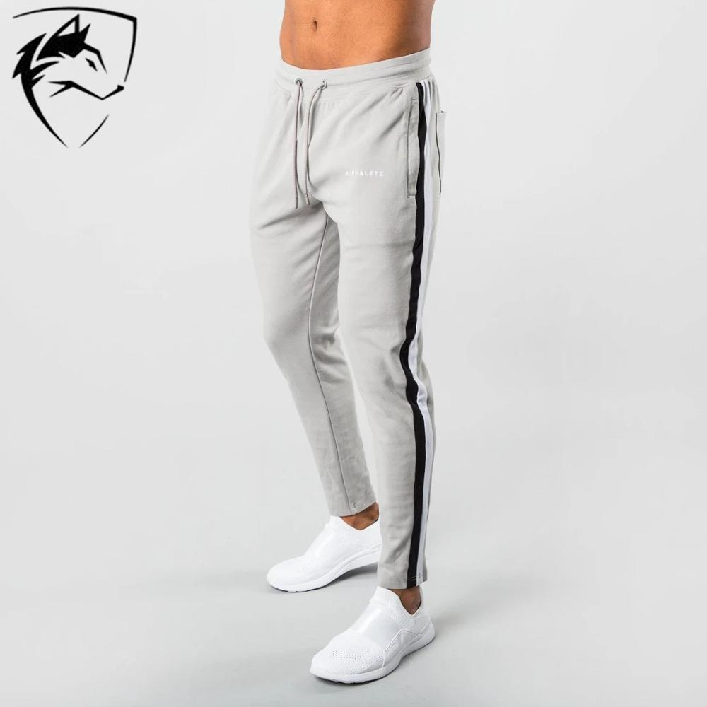 ALPHALETE Brand  Men Gyms Pants Joggers Fitness Casual Long Pants Men Workout Skinny Sweatpants Jogger Tracksuit Cotton Trousers