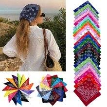 Повязка на голову с квадратным шарфом для мужчин и женщин, многофункциональный аксессуар для волос с принтом, походная мотоциклетная банда...