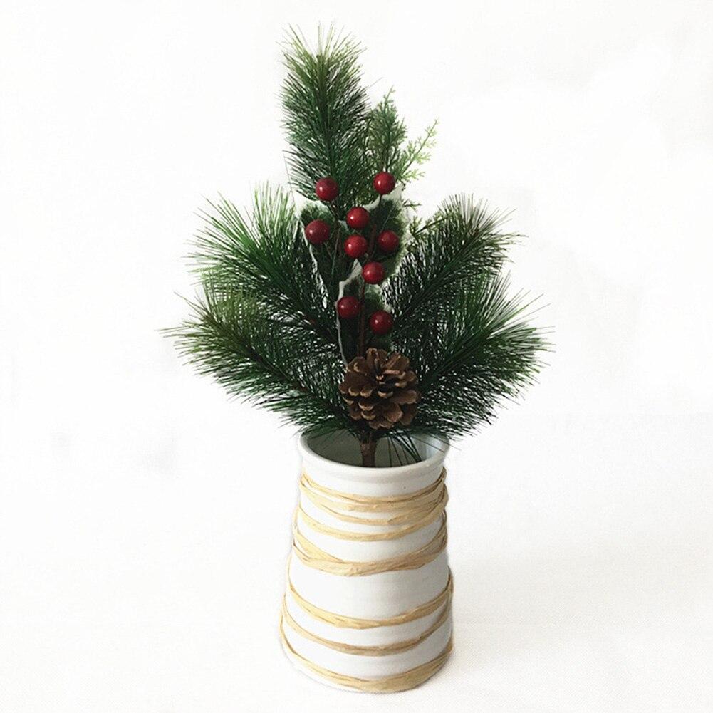 Décorations de noël baies courtes   3 pièces, Branches courtes, aiguilles de pin, Branches de fruits artificielles, fleurs artificielles, fausses fleurs