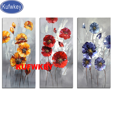5d diamond painting Red Poppies 3d Picture diamond mosaic square round diamond Romantic Flowers embroidery still life,