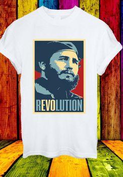 Camiseta Unisex para hombre y mujer, líder rebelde de la Revolución Cubana Raúl, Fidel Castro Ruz 727