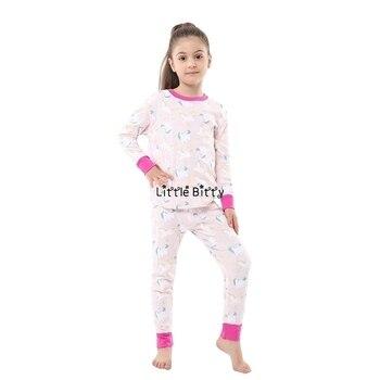 100 Cotton Boys and Girls Long Sleeve Pajamas Sets Children's Sleepwear Kids Christmas Pijamas Infantil Homewear Nightwear - PA17, 7