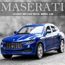 1:32 maserati levante liga diecast modelo de carro de brinquedo veículos modelo com puxar para trás seis porta aberta crianças presente coleção frete grátis