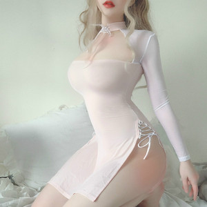 Image 3 - Vintage Vampire Hollow out Costumes Sexy Backless Long Fancy Dress Erotic Sleepwear Womens Devil Cosplay Lingerie Halloween