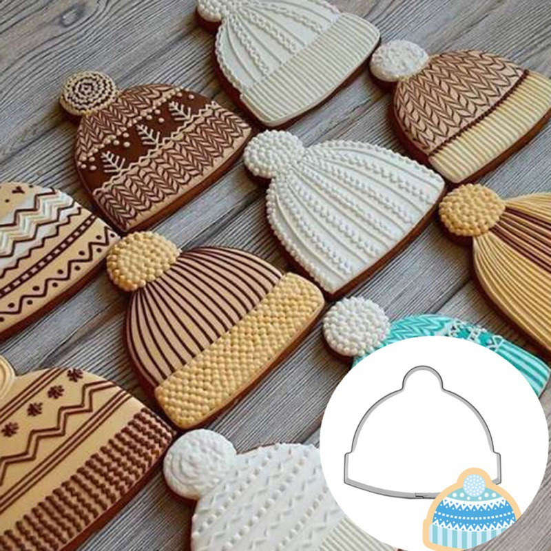 DIY Cute Hat Cookie Biscuit Stainless Steel Mold Handmade Baking Mold For Kitchen Festive Party Supplies Kitchen Handmade Tools