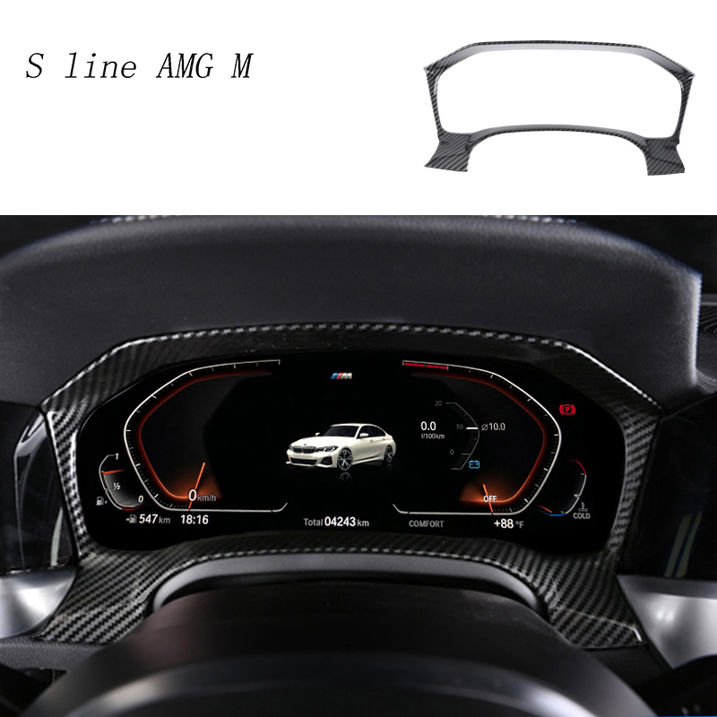 Car Styling Carbon Fiber Dashboard Radiator Odometer Decoration Cover Trim Sticker For BMW 3 Series G20 G28 Interior Accessories