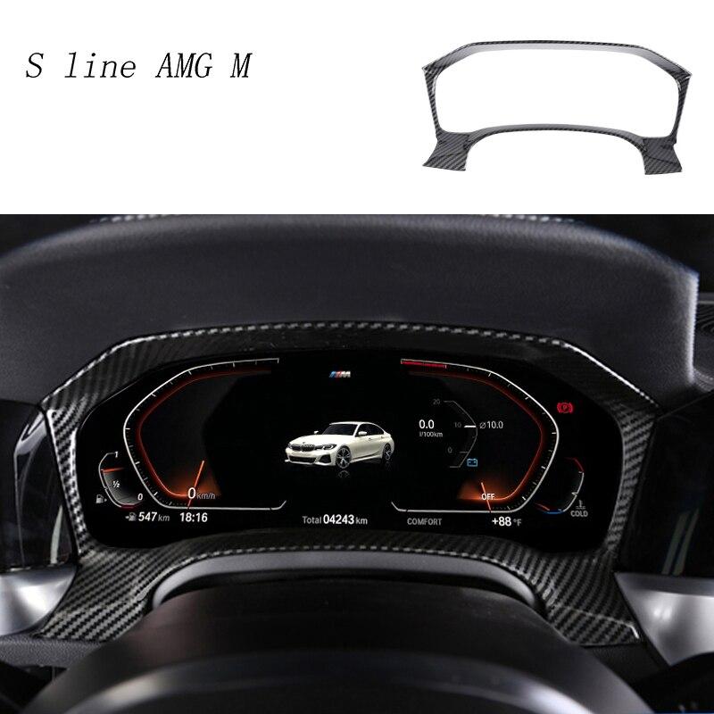 Car Styling Carbon Fiber Dashboard Radiator Odometer Decoration Cover Trim Sticker For BMW 3 Series G20 G28 Interior Accessories