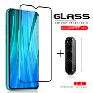 2-in-1 camera glass for xiaomi redmi note 8 pro glass on xiomi redmi note 8t 8 t note8t not t8 8pro 8a 8 a a8 protective glass(China)