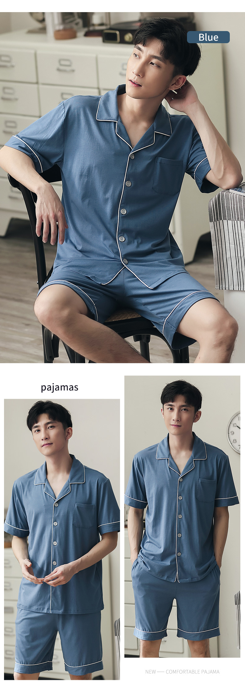 2 pcs pijama manga curta lazer wear conjuntos de pijamas