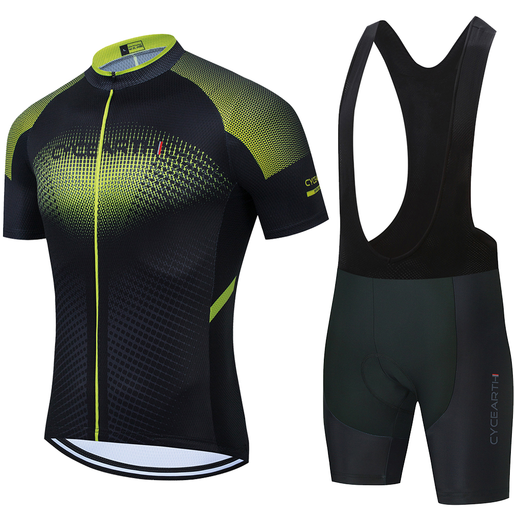 Новинка, профессиональная команда, Cycearth, Майки для велоспорта, 2021, короткий рукав, набор, мужские шорты, летняя одежда для верховой езды, ciclismo...