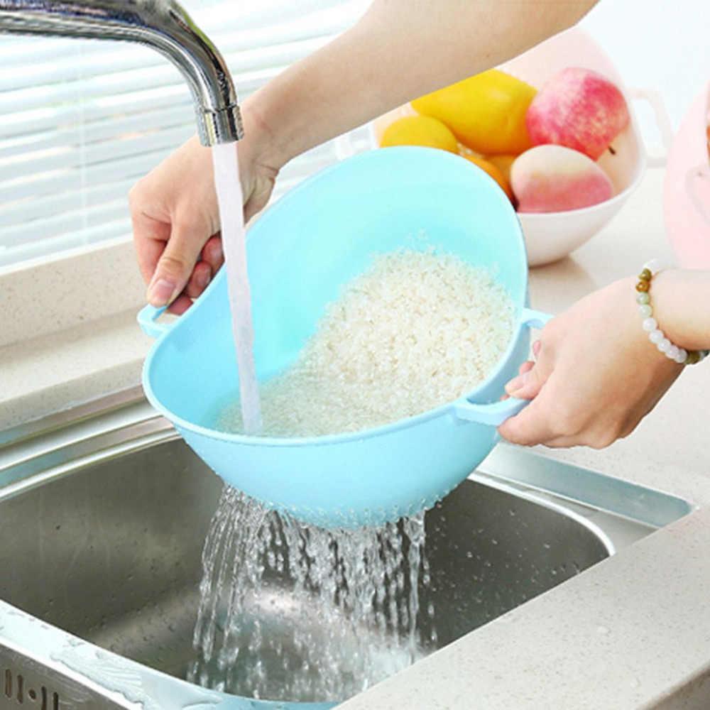Novedad, máquina de lavado de arroz con doble Mango, cesta de colador de arroz, cesta de cocina, colador de arroz
