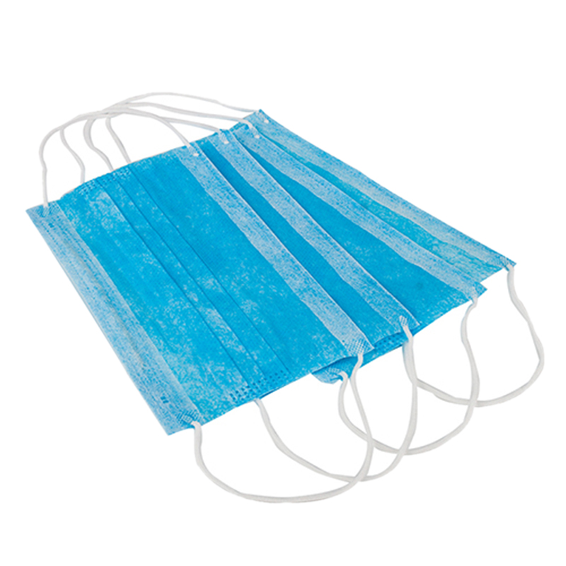 100Pcs/Pack Anti-Dust Windproof Mask Disposable Mouth Nose Face Care Eyelash Extension Non-Woven Fabric Masks Blue