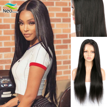 Brazilian 13x4 Straight Lace Front Wig For Black Women 150% Density lace front human hair wigs Straight Lace Frontal Wigs Remy yyong 13x1 hairline straight lace front wigs 150% density 13x4 remy human hair lace front wigs transparent lace part wig 32in