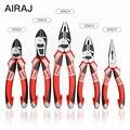 AIRAJ multi-fonction pince de coupe-fil de qualité industrielle électrique dénudage étau de sertissage fort manuel outils de réparation à domicile
