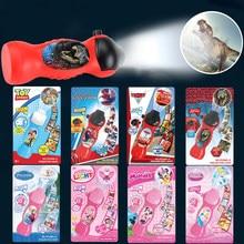Disney desenhos animados projeção lanterna mickey mouse carros brinquedo história congelado elsa marvel spider-homem criança festa de natal brinquedo com caixa
